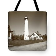 Lighthouse - Presque Isle Michigan Tote Bag