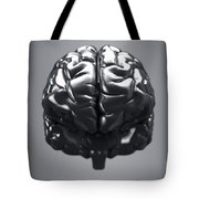 Metallic Brain Tote Bag