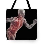Running Male Figure Tote Bag
