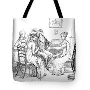 Scene From Pride And Prejudice By Jane Austen Tote Bag
