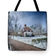 Snow Around Billy Graham Library After Winter Storm Tote Bag