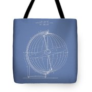 Terrestro Sidereal Globe Patent Drawing From 1886 Tote Bag