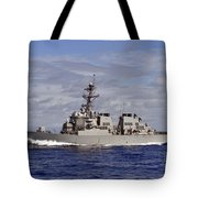 The Guided-missile Destroyer Uss Tote Bag