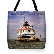 Thomas Point Shoal Lighthouse Tote Bag