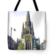 View Of Episcopal Cathedral In Edinburgh Tote Bag