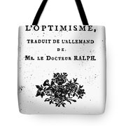Voltaire Candide Tote Bag