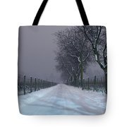 Winter Road Tote Bag