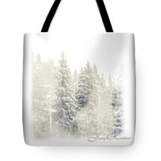 Winter Wonderland. Elegant Knickknacks From Jennyrainbow Tote Bag