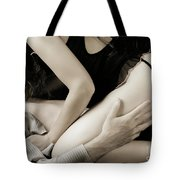 Young Couple Making Love Tote Bag