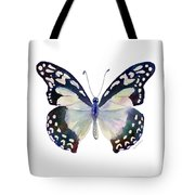 90 Angola White Lady Butterfly Tote Bag by Amy Kirkpatrick