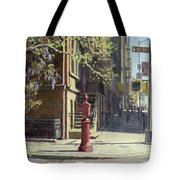 91st Street At Lexington Avenue Oil On Canvas Tote Bag