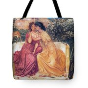 Sappho And Erinna In A Garden Tote Bag