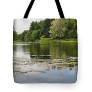 Pond With Trees  Tote Bag