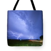 95th And Woodland Lightning Thunderstorm View Tote Bag