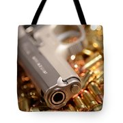 9mm Sw With Brass Tote Bag