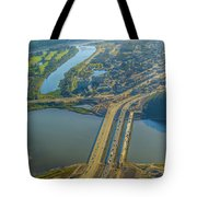 Fort Mcmurray From The Sky Tote Bag