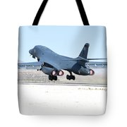 A B-1b Lancer From 28th Bomb Wing Tote Bag