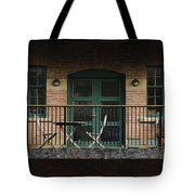 A Balcony On The River Aire Tote Bag