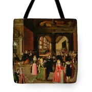 A Ball During The Reign Of Henri Iv Oil On Panel Tote Bag