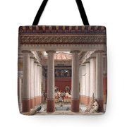 A Banquet In Ancient Greece Tote Bag