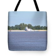 A Barge On The Mississippi River Tote Bag