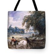 A Barge On The Stour Tote Bag