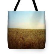 A Barley Crop Sways In The Wind Tote Bag