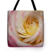 A Beautiful Pink Rose In Summertime Tote Bag