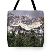 A Beautiful View Of Mount Ogden From Snowbasin 2/1 Pano Tote Bag
