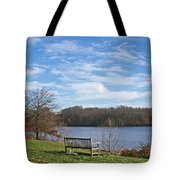 A Bench With A View Tote Bag