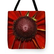 A Big Orange And Yellow Flower Tote Bag