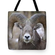 A Big Ram Caught With His Mouth Full Tote Bag