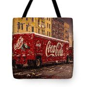 A Big Red Truck In The Barrio Tote Bag