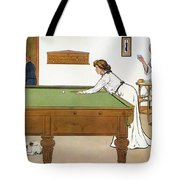 A Billiards Match Tote Bag by Lance Thackeray
