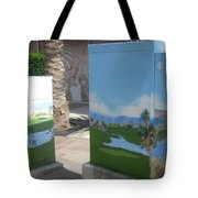 A Birdie On The 18th Front  Public Art Tote Bag