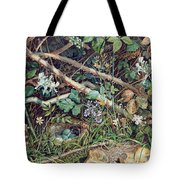 A Birds Nest Among Brambles Tote Bag