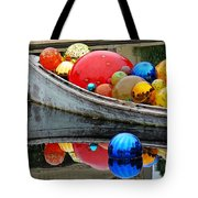 A Boat Full Of Color Tote Bag
