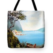 A Boat On The Beach Tote Bag