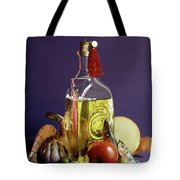 A Bottle Of Olive Oil Surrounded By A Variety Tote Bag