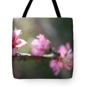 A Bough Of Blurred Peach Blossom Tote Bag