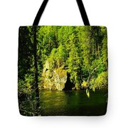 A Boulder Across The Seleway River  Tote Bag