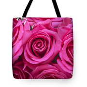 A Bouquet Of Pink Roses Tote Bag