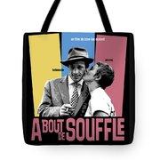A Bout De Souffle Movie Poster Tote Bag
