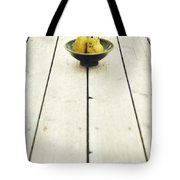 A Bowl Filled With Pears Tote Bag by Priska Wettstein