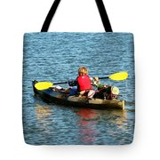 A Boy And His Canoe Tote Bag
