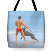 A Boy And His Dog 2 Tote Bag