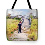 A Boy And His Dog Tote Bag