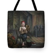 A Boy In The Attic With Old Relics Tote Bag