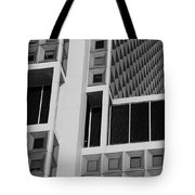 A Break In The Glass In Black And White Tote Bag