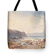 A Breezy Day With Fisherfolk On The Foreshore Tote Bag